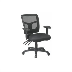Office Star ProGrid Back Mid Back Managers Office Chair in Coal