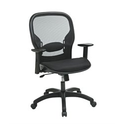 Office Star Work Smart Screen Back Mesh Seat Chair in Black