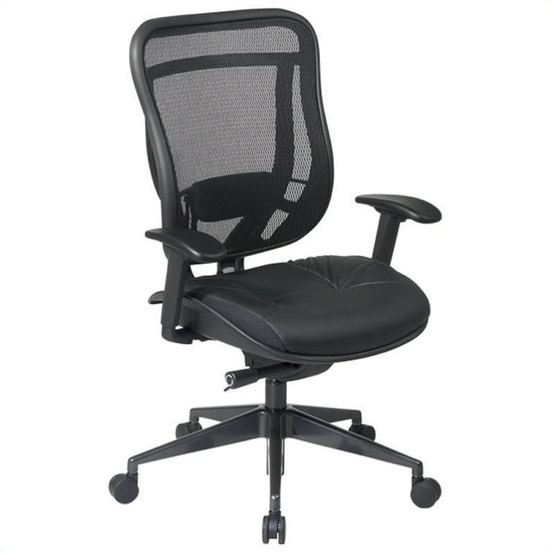 Office Star 818 Series High Back Office Chair in Black Gunmetal