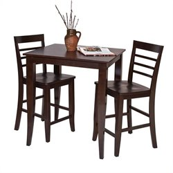 Office Star Jamestown Pub Table in Espresso Finish