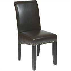Nail Head Dining Chair in Espresso