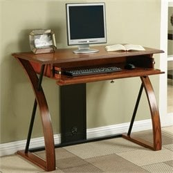 Office Star Aurora Computer Desk in Oak