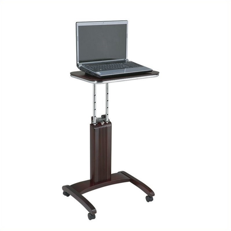 Office Star Precision Adjustable Laptop Stand in Mahogany