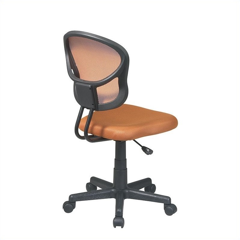Office Star OSP Designs Seating Mesh Task Office Chair in Orange