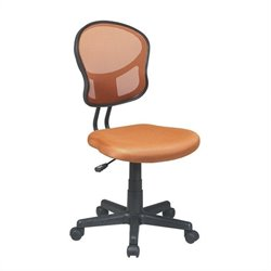 Office Star OSP Designs Seating Mesh Task Chair in Orange