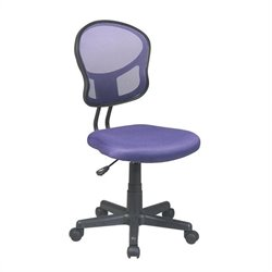 Office Star OSP Designs Seating Mesh Task Office Chair in Purple