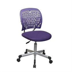Office Star OSP Designs Seating SpaceFlex Task Office Chair in Purple