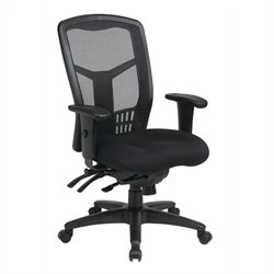 Office Star ProGrid High Back Managers Office Chair with 5 lever Multi Function Control in Titanium Finish