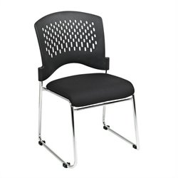 Visitors Black Guest Chair (Set of 2)