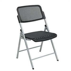 Folding Chair in Silver (Set of 2)