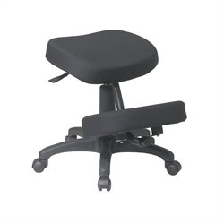 Office Star Ergonomic Knee Office Chair with Memory Foam in Black