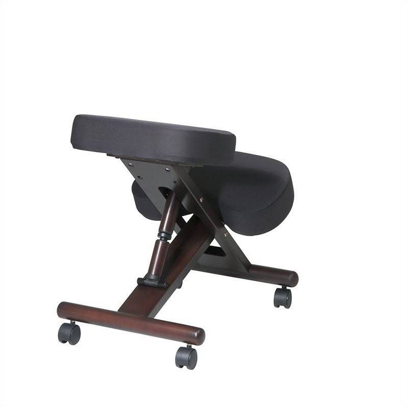 Wood Knee Chair ~ Ergonomic wood knee office chair in espresso kcw
