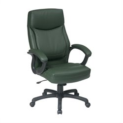 Office Star Executive High Back Green Eco Leather Office Chair