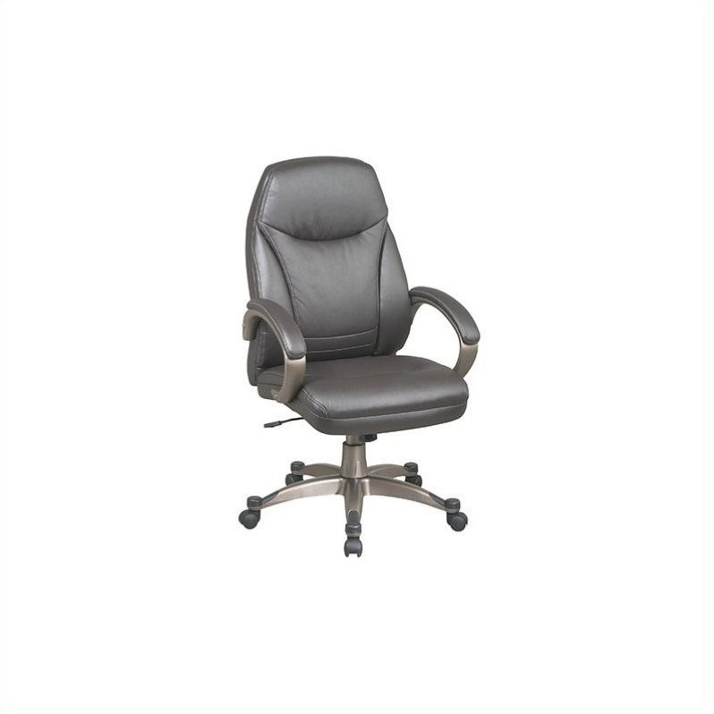 Office Star Work Smart Deluxe Faux Leather High Back Office Chair