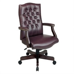 Office Star Traditional Executive Office Chair with Padded Arms