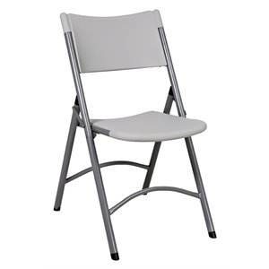 Resin Folding Chair with Grey Frame (4 Pack)