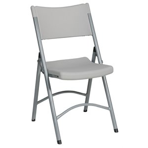 Resin Folding Chair in Silver (Set of 4)