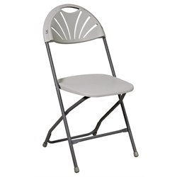 Office Star Work Smart Plastic Folding Chair (4 Pack)
