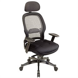 Deluxe Matrex Back Executive Office Chair with Mesh Seat in Black
