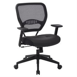 Professional Dark Air Grid® Back Managers Chair Black Eco Leather Seat