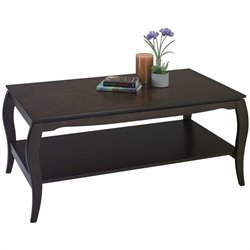 Office Star Brighton Coffee Table in Espresso