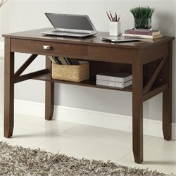 Office Star Landon Writing Desk in Light Old Wood