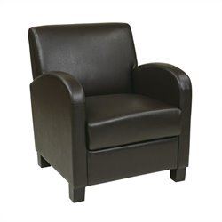 Office Star Metro Eco Leather Club Chair in Espresso