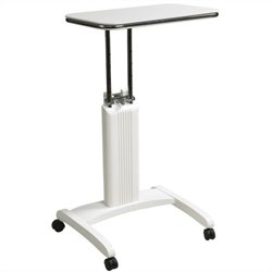 Office Star Precision Adjustable Laptop Stand in White