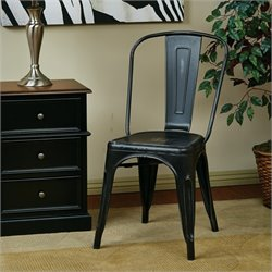 Office Star Bristow Metal Dining Chair in Antique Black