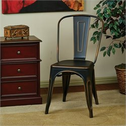 Office Star Bristow Metal Dining Chair in Antique Copper