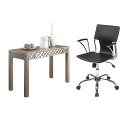 Office Star Helena Writing Desk and Dorado Vinyl Office Chair