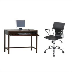 Computer Desk and Dorado Vinyl Office Chair