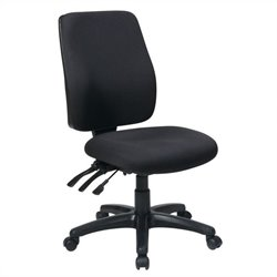 High Back Office Chair with Ratchet Back Height Adjustment