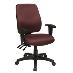 Office Star High Back Chair with Back Height Adjustment with Arms