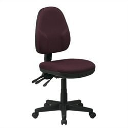 Office Star Dual Function Ergonomic Office Chair with Adjustable Back Height