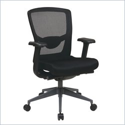 Office Star ProGrid Executive Black ProGrid Back Chair in Titanium