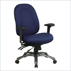 Office Star 8500 Series High Back Chair with Seat Slider in Titanium
