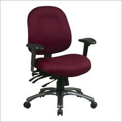 Office Star 8500 Series Mid Back Chair with Seat Slider in Titanium