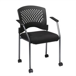 Office Star Visitors Guest Chair with Arms in Titanium