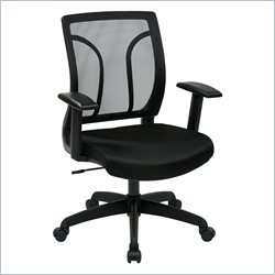 Office Star EM Screen Back Chair with Height Adjustable Arms