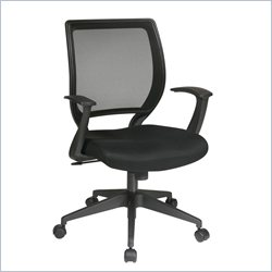 Office Star EM Screen Back Task Chair with T arms