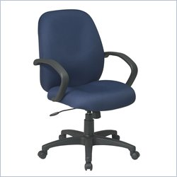 Office Star EX Mid Back Managers Chair with Fabric Back