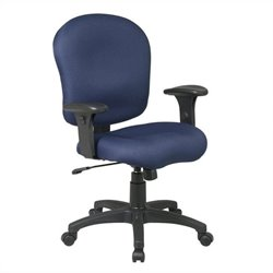 Office Star Task Chair with Saddle Seat and Adjustable Arms