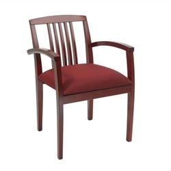 Office Star Sonoma Set of 2 Wood Guest Chair in Cherry Finish