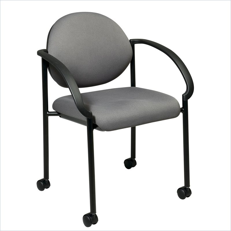 STC Stack Chairs with Casters and Arms