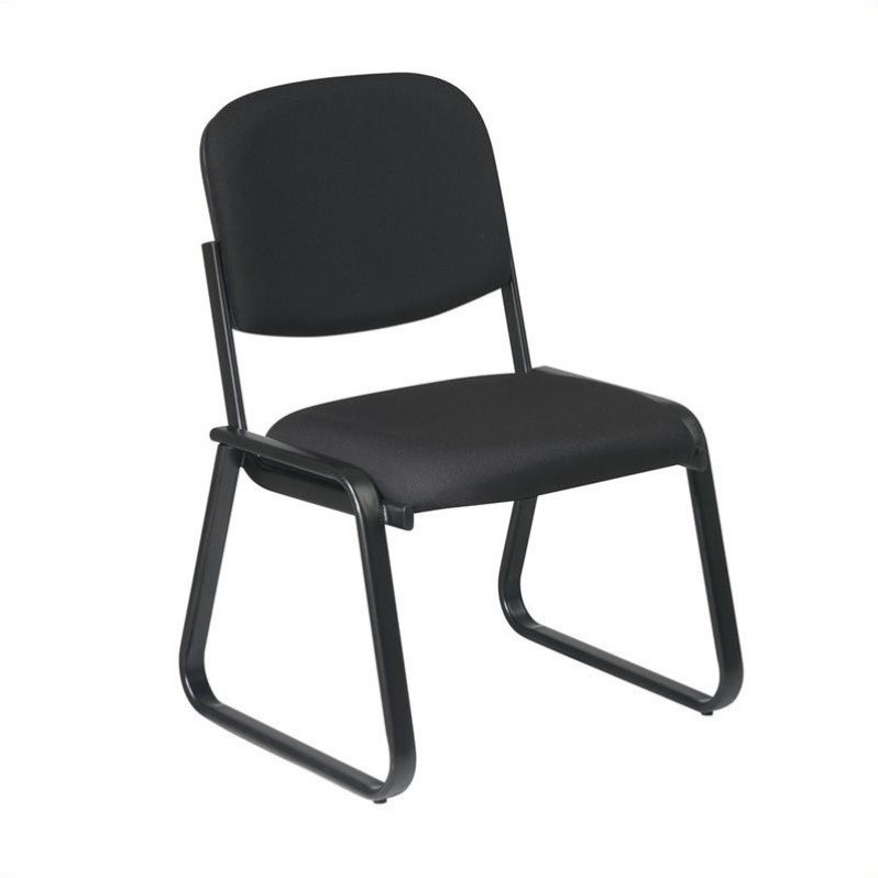 Deluxe Sled Base Armless Chair with Designer Plastic Shell