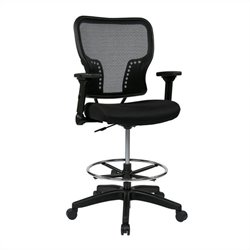 Office Star 213 Series AirGrid Back and Mesh Seat Office Chair in Black