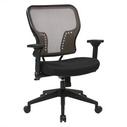 Office Star 213 Series AirGrid Back Seat Office Chair in Black and Latte
