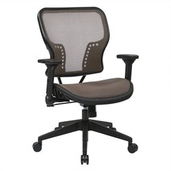Office Star 213 Series AirGrid Seat Office Chair in Latte and Black