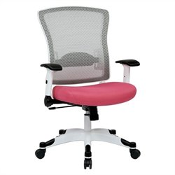 Office Star Pulsar White Frame Managers Chair in Pink